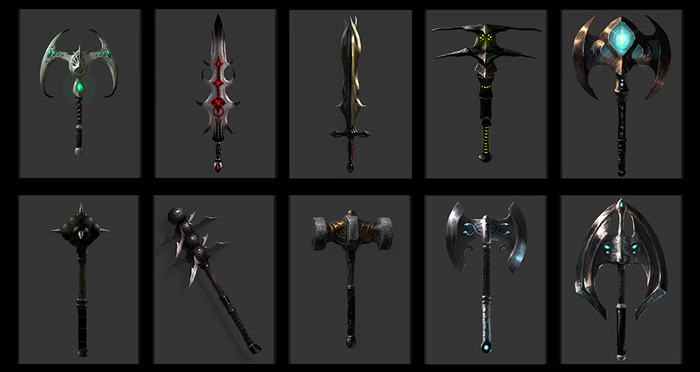 Grammatikus weapons concepts